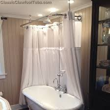 clawfoot tub and shower combo. clawfoot tub deckmount shower enclosure combo w/gooseneck faucet and e