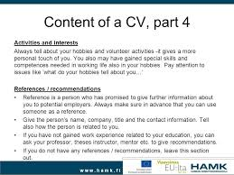 Hobbies And Interests For A Resume   Free Resume Example And