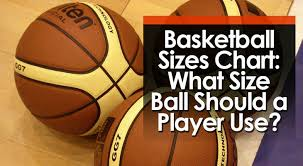 Basketball Sizes Chart What Size Ball Should A Player Use