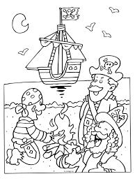 Kleurplaat Piraten En Piratenschip Kleurplatennl