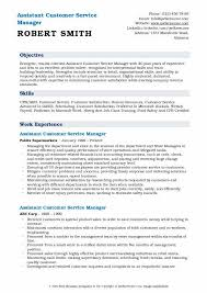 Customers Service Job Description Assistant Customer Service Manager Resume Samples Qwikresume