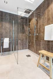 laminated diy friendly shower wall panels look and feel like they have grout but they are
