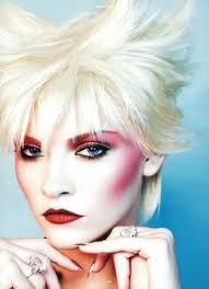 new romantic inspired new wave makeup fuscia eyes and cheeks and bleached blonde hair ginta lapina for antidote magazine the issue