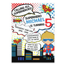 superheroes birthday party invitations superhero party invitations announcements zazzle uk