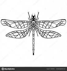 эскизы татуировок стрекозы руки Drawn вектор стрекоза эскиз