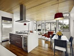 Kitchen And Living Room Interior Magnificent Ideas For Living Room Using Cream Leather