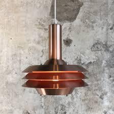 Vintage Mid Century Pendant Light Vintage Mid Century Danish Copper Plated Pendant Light From