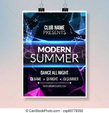 Modern Summer Music Party Template Dance Party Flyer Brochure Party Club Creative Banner Or Poster For Dj