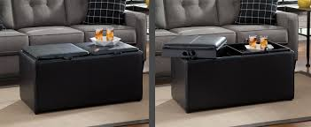 multifunctional furniture. Two Images Of A Black Ottoman Shown With Stroage Unit Closed And Other Image Multifunctional Furniture