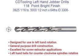 drill bit sizes fractional inch. left hand drill bit jobber length 1/16 to 1/2 inch diameter fractional sizes id 3308-