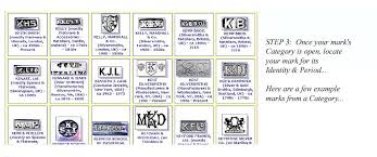 list of gold maker marks identify silver marks jewelry marks and jewelers marks on rings