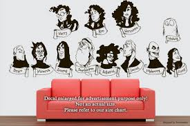 Amazon Com Characters Of Harry Potter Wall Decals Stickers