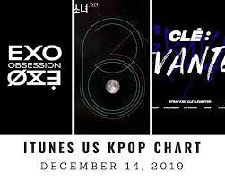 Itunes Us Itunes Kpop Chart December 14th 2019 2019 12 14