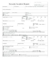 Sample Police Report Template 6 Free Word Documents Blank