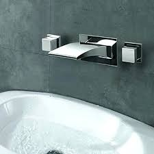 bathtub wall mount faucet bathtub wall faucet contemporary widespread waterfall wall mount 3 colors led bathroom