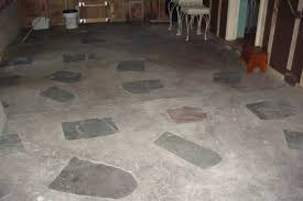 before the old slate and concrete flooring made the room dark and uncomfortable