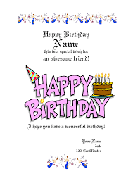 Gift Card Word Template Free Printable Gift Certificate Templates For Birthday