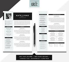 2 Page Cv Template Professional Modern Resume Cv Template For Word Us Letter