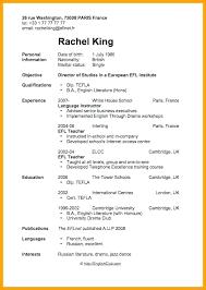 Cv Template English Resume Free Download Sample In Teacher Uk