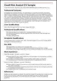 Credit Analyst Resume Credit Risk Analyst Cv Sample Myperfectcv