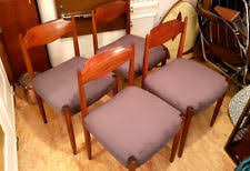 teak chairs set of 4 set chair for dining room danish design 60