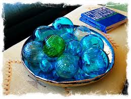 "Decorative Glass Balls For Bowls When a room needs that anchor of art or ""splash"" of color I 9"