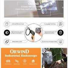 Flexible Inspection Camera With Light Orwind Borocam Video Borescope Wireless Inspection Camera