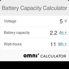 Battery Capacity Calculator Omni