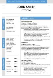 Modern Executive Resume Template Find The Blue Executive Resume Template On Www Cvfolio Com