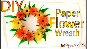 Diy Paper Flower Wreath Diy Crafts Paper Flower Wreath How To Make Paper Crafts Home