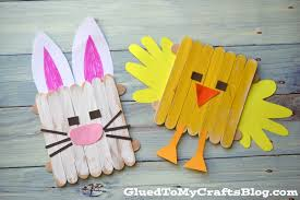 Popsicle Stick Easter Friends {Kid Craft} with Popsicle Stick Craft Ideas  For Kids