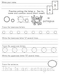 Letter O Worksheets | gplusnick