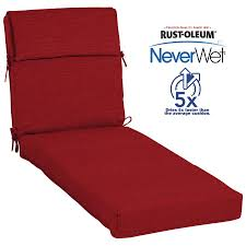 allen roth neverwet 1 piece cherry red patio chaise lounge chair cushion