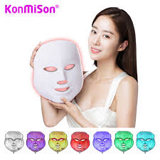 Led Light For Skin Konmison 7 Colors Photon Led Facial Mask Beauty Therapy Led Light Skin Care Rejuvenation Wrinkle Acne Removal Face Beauty Spa