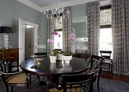 dining room curtains with gray walls
