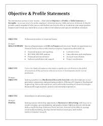 Objective Sentence For Resumes Objective Sample For Resume Joefitnessstore Com