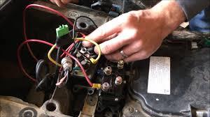 universal atv winch solenoid relay contactor installation youtube Badlands 12000 Winch Wiring Diagram universal atv winch