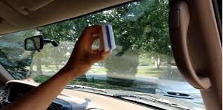 when de greasing wipe in a circular motion immediately dry the glass with another microfiber towel