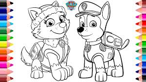 Paw Patrol Coloring Pages Chase And Everest Setoys Tv Youtube