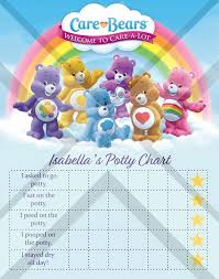 Digital Care Bears Potty Training Chart High Res Jpg Files Instant Download Ready To Print Rewards Tracker