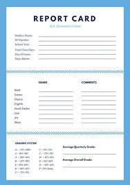 Progress Report Card Template Awesome Customize 48 Elementary School Report Card Templates Online Canva