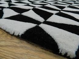 geometric geo01 wool rugs in black white free uk delivery
