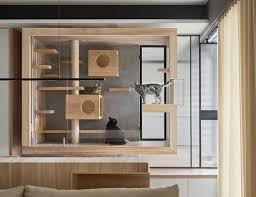 built in cat bedroom by indot