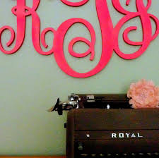 stylish monogrammed wall decor large wooden monogram letters
