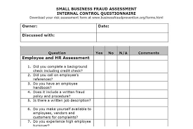 Small Business Questionnaire Auditor Forms Vitalics