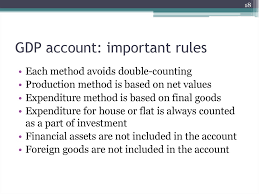 What Is Not Included In Gdp Gdp Measurement And National Accounts Online Presentation