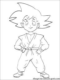 Dragon Ball Son Goku Da Stampare Disegni Da Colorare Gratis