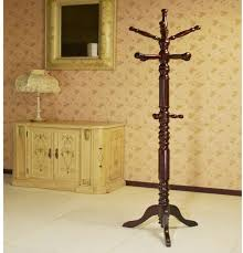 Classic Coat Rack Megahome Wood Cherry 100hook Hat Coat Rack Stand eBay 97