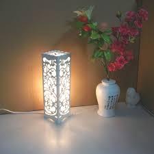minimalist modern wooden bedside sheepskin lampshade lantern carving decorative lighting faux paper vintage e27 floor lamp
