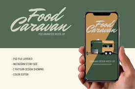 Export animated gif, apng (line animated stickers), animated svg (smil). Food Caravan Animated Mock Up 827894 Branding Design Bundles In 2020 Up Animation Social Media Design Inspiration Branding Design